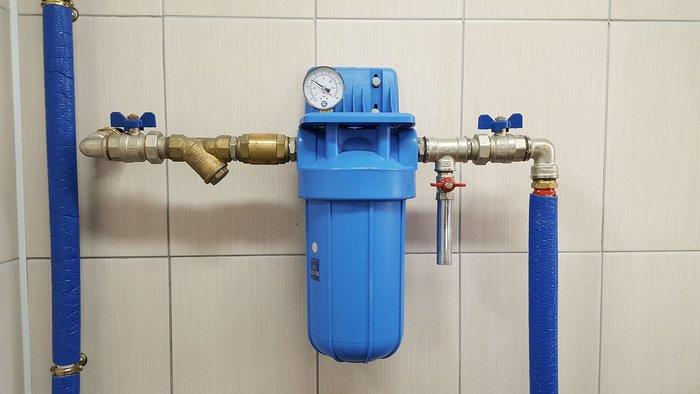 Установка фильтра тонкой очистки воды Киев